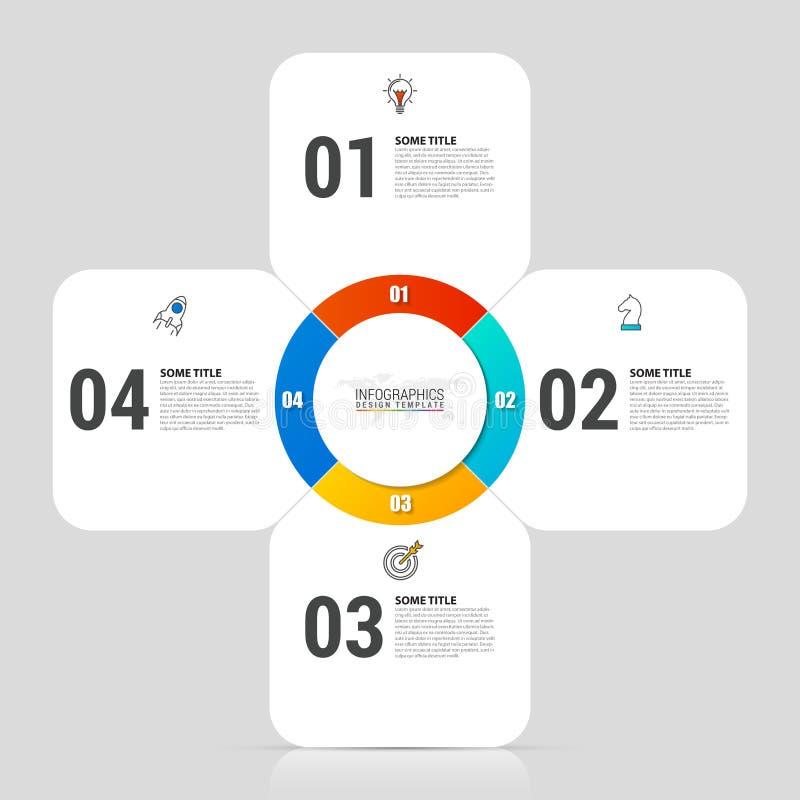 Het malplaatje van het Infographicontwerp Creatief concept met 4 stappen royalty-vrije illustratie