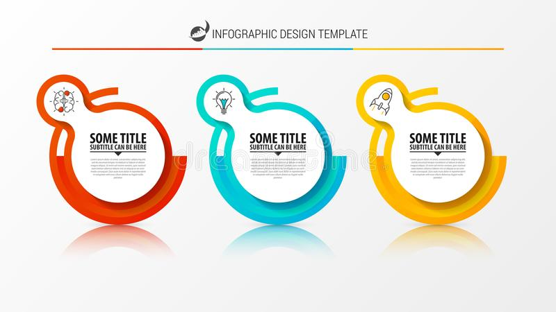 Het malplaatje van het Infographicontwerp Creatief concept met 3 stappen stock illustratie