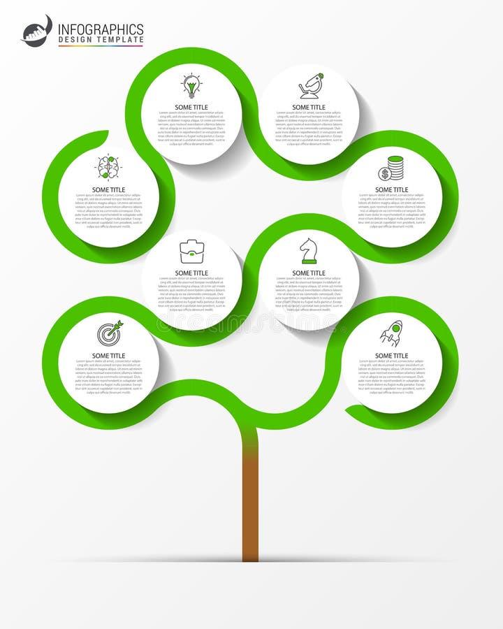 Het malplaatje van het Infographicontwerp Creatief concept met 8 stappen vector illustratie