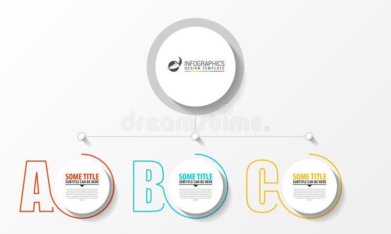 Het malplaatje van het Infographicontwerp Creatief concept met 3 stappen vector illustratie