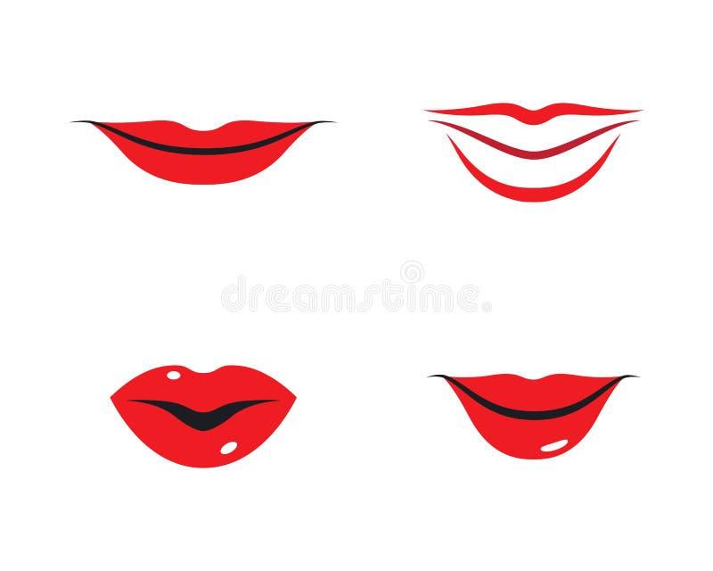 Het malplaatje van het lippenembleem royalty-vrije illustratie