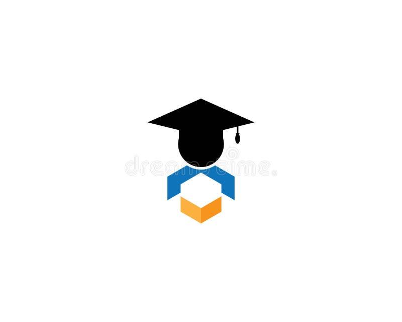Het malplaatje van het onderwijsembleem stock illustratie