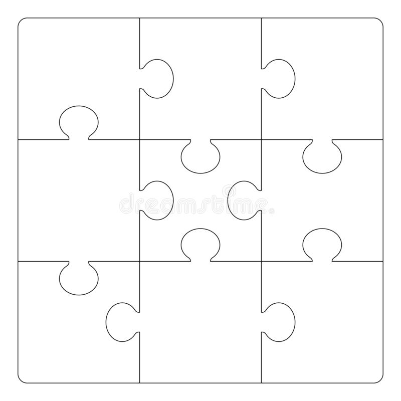 Het malplaatje van het raadselsnet vector illustratie