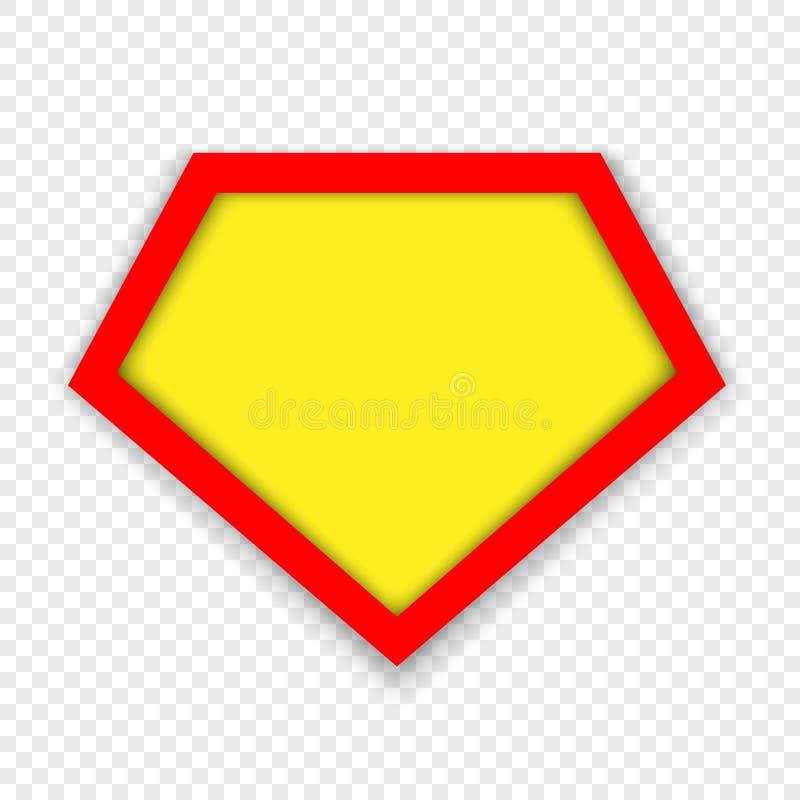 Het malplaatje van het Superheroembleem royalty-vrije illustratie