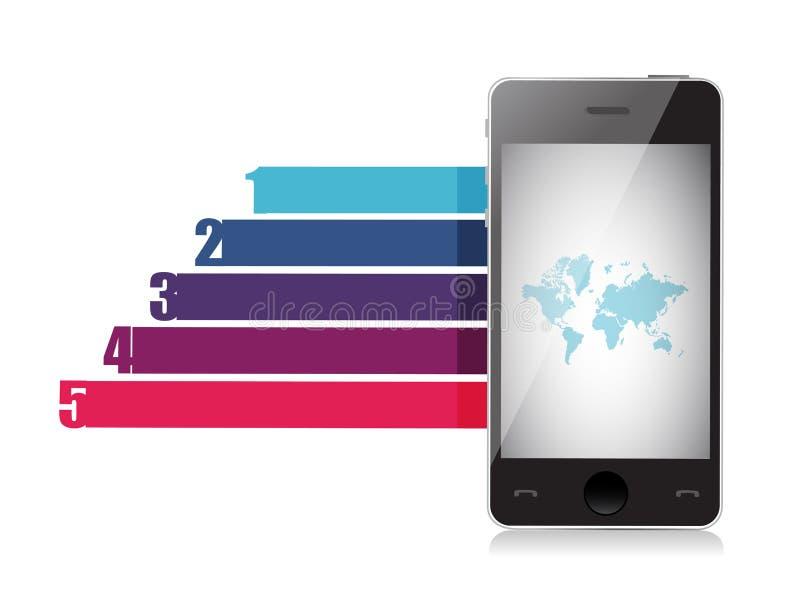 Het malplaatje van van het bedrijfs telefoonontwerp grafiekbanners royalty-vrije illustratie