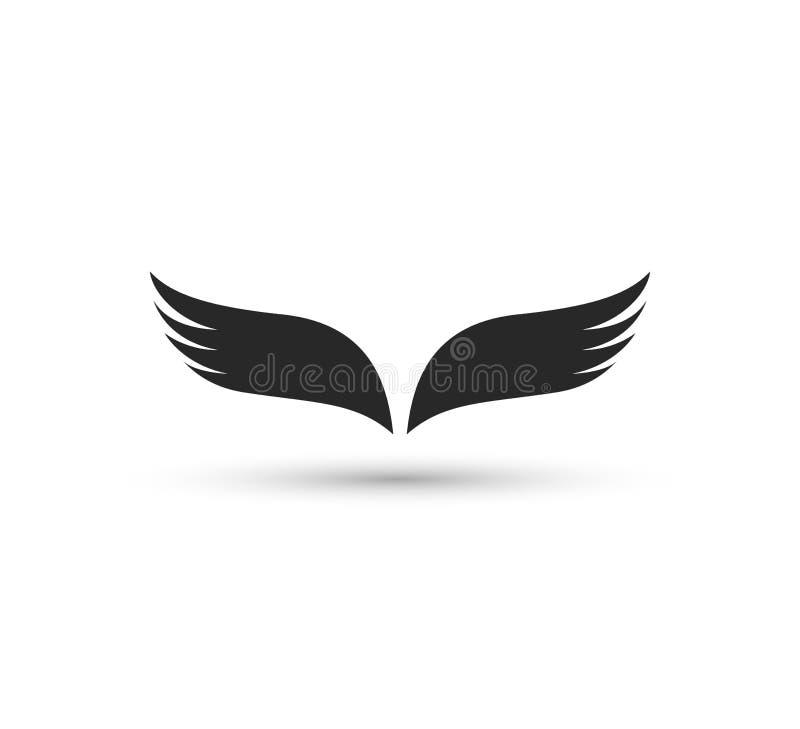 Het malplaatje van het vleugelembleem Identiteit, vector, illustratie stock illustratie