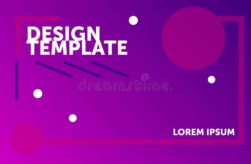 Het malplaatje van het Webontwerp Minimale geometrische achtergrond Kleurrijke abstracte samenstelling royalty-vrije illustratie