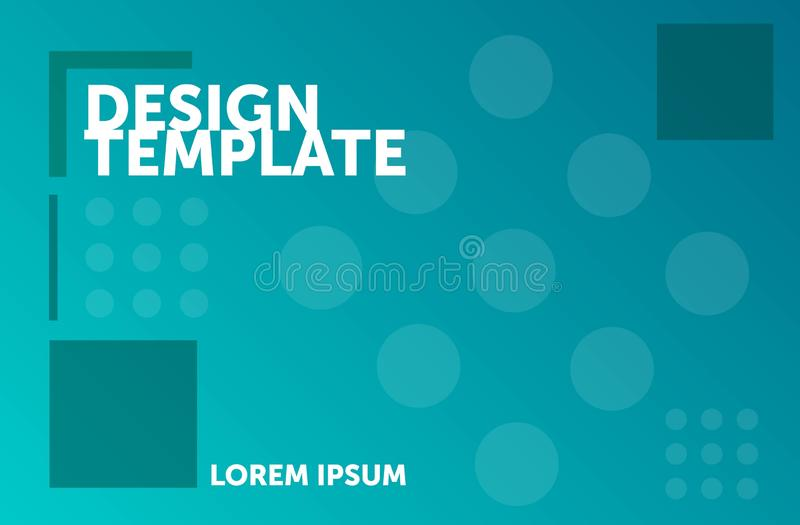 Het malplaatje van het Webontwerp Minimale geometrische achtergrond Kleurrijke abstracte samenstelling stock illustratie