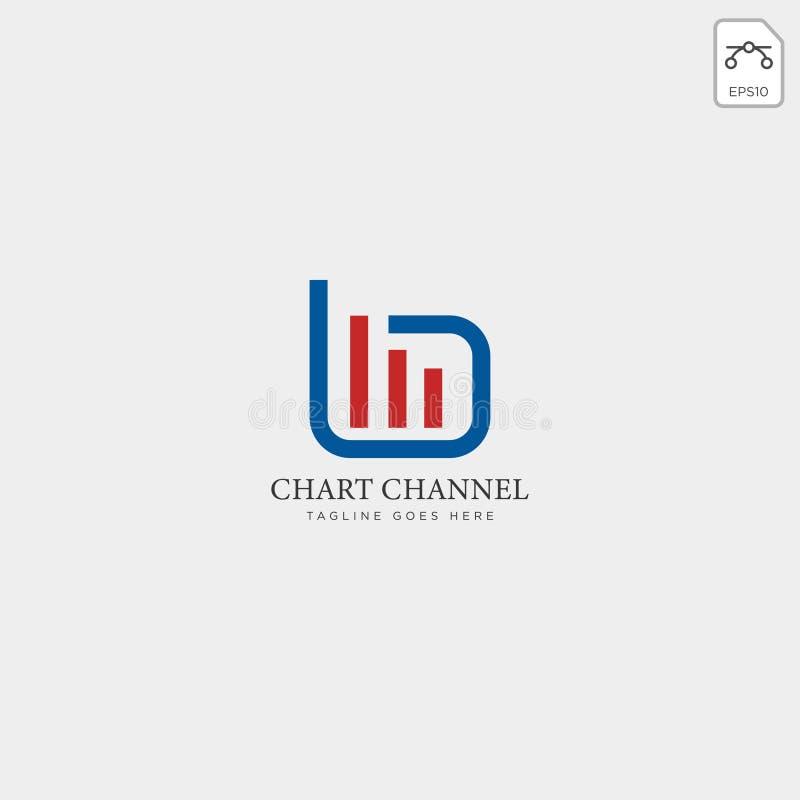 het malplaatje vectorillustratie van het grafieken financiële grafische embleem stock illustratie