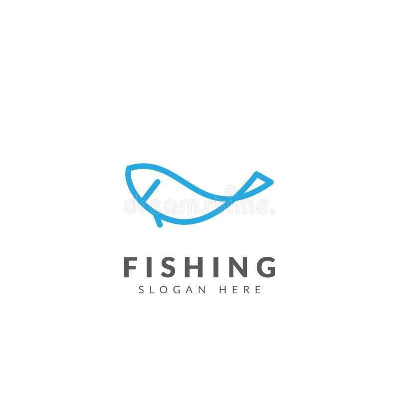 Het malplaatje vectorontwerp van het visserijembleem royalty-vrije illustratie