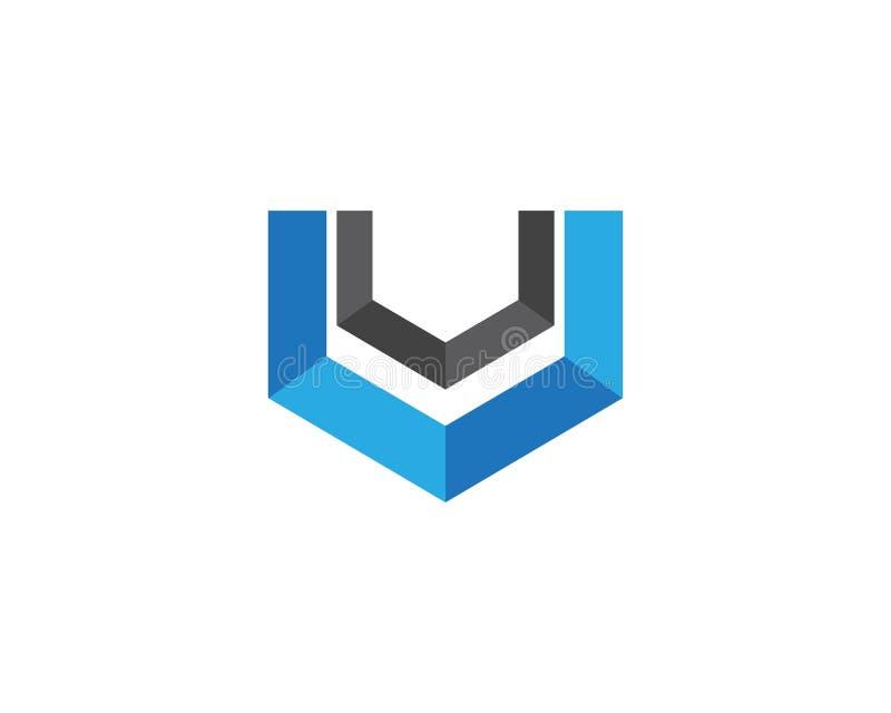 Het malplaatje vectorpictogram van het bedrijfsfinanciën professioneel embleem stock illustratie