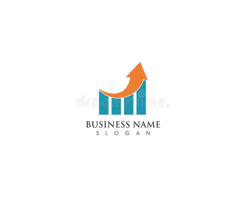 Het malplaatje vectorpictogram van het bedrijfsfinanciën professioneel embleem vector illustratie