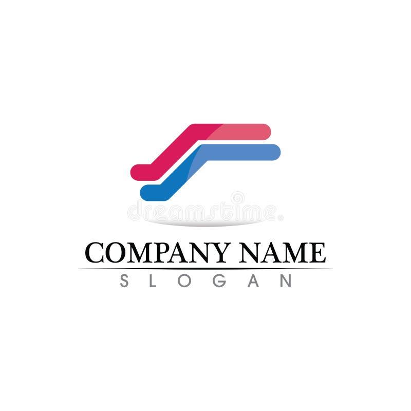Het malplaatje vectorpictogram van het bedrijfsfinanci?n professioneel embleem royalty-vrije illustratie