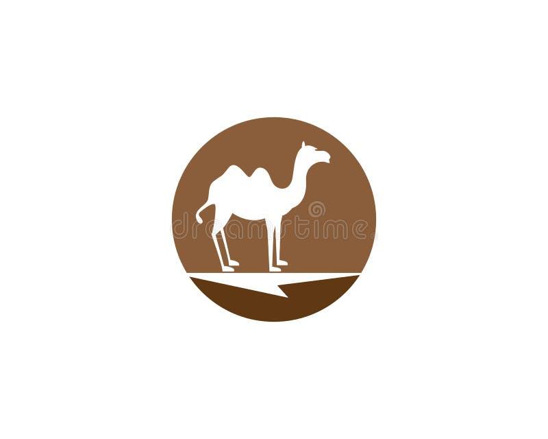 Het malplaatje vectorpictogram van het kameelembleem vector illustratie