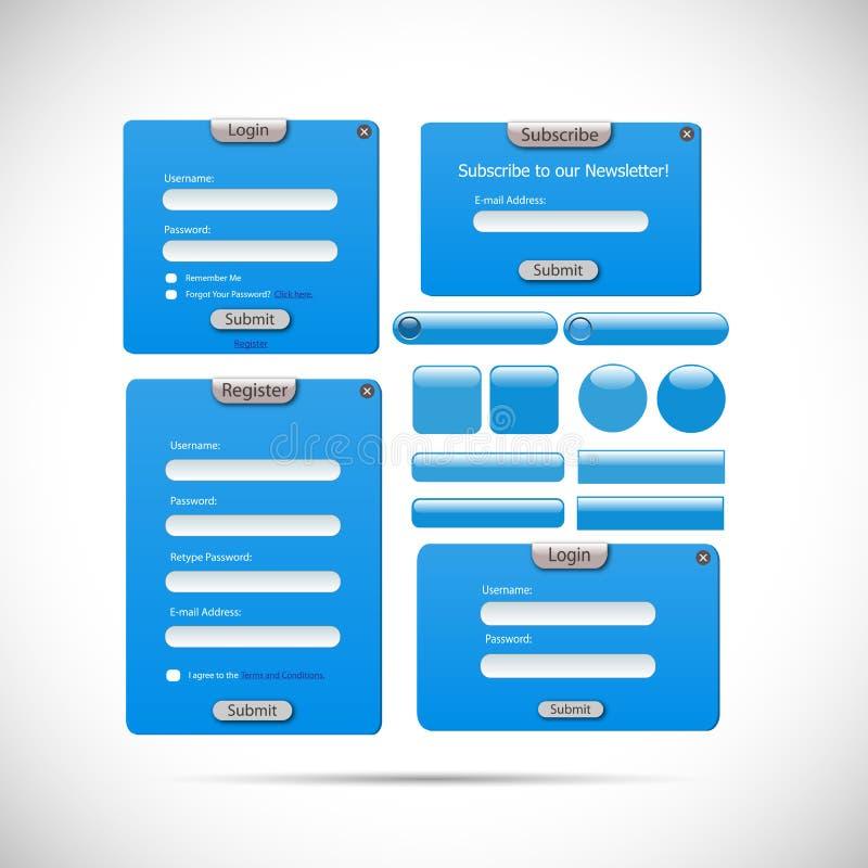 Het Malplaatjeillustratie van de Webvorm royalty-vrije illustratie