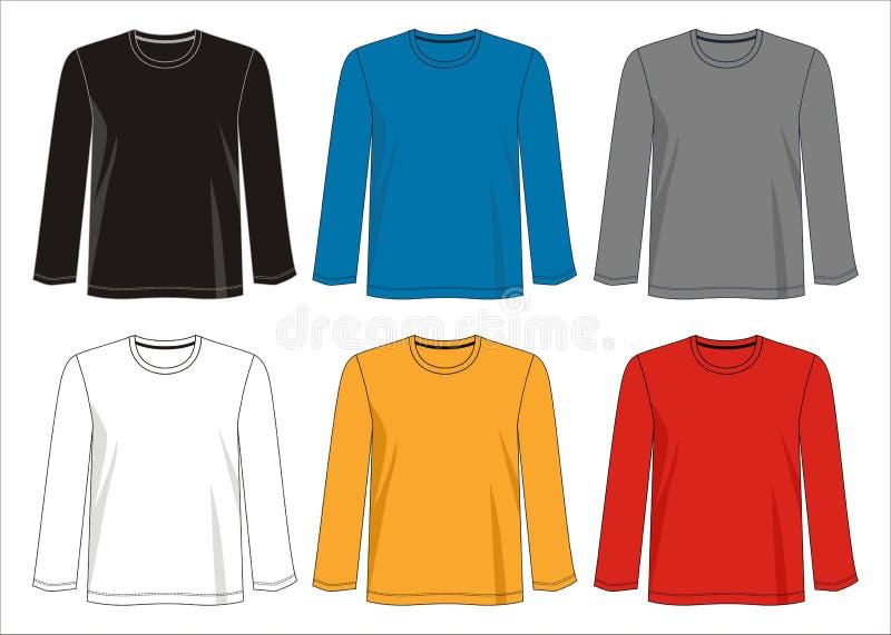 Het malplaatjeinzameling van de ontwerp vectort-shirt voor mensen 02 royalty-vrije illustratie