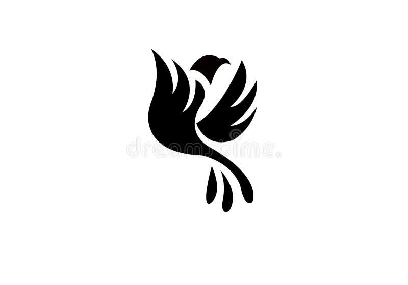 Het Malplaatjeluxe van Logo Modern Simple Vector Editable van de vogelvlieg Creatieve royalty-vrije illustratie