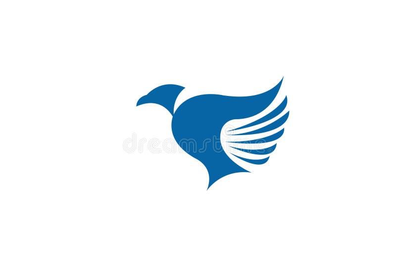 Het Malplaatjeluxe van Logo Modern Simple Vector Editable van de vogelvlieg Creatieve stock illustratie