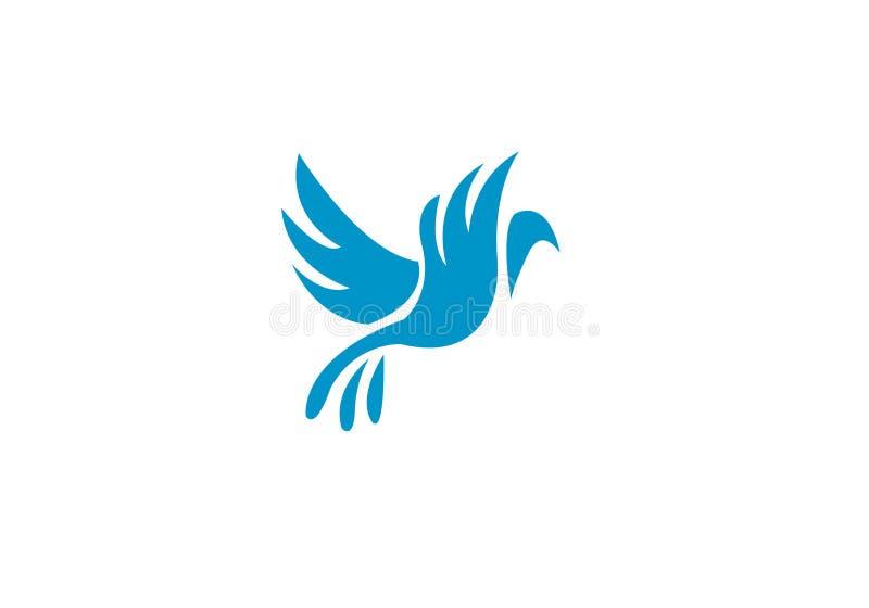 Het Malplaatjeluxe van Logo Modern Simple Vector Editable van de vogelvlieg Creatieve vector illustratie