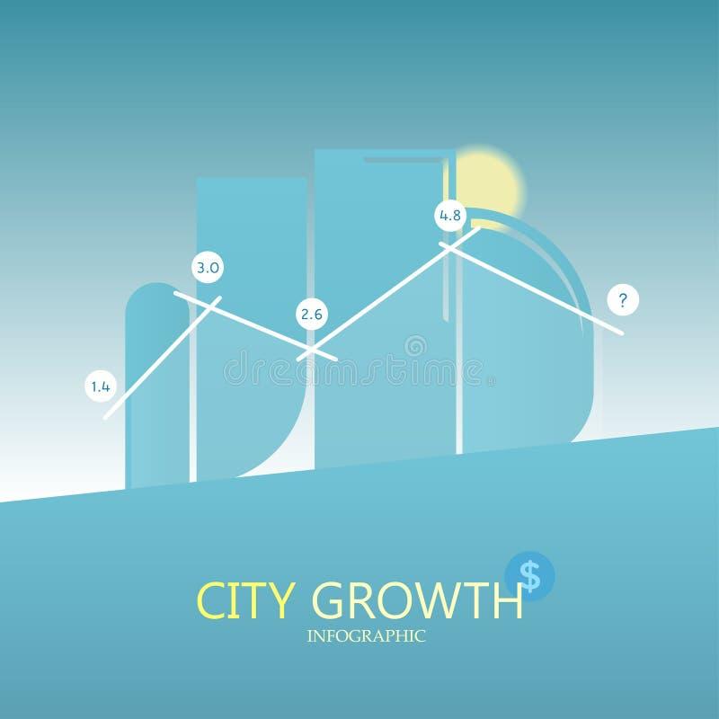 Het malplaatjeontwerp Infographic van de bedrijfspijlvorm de bouw aan de vectorillustratie van het succesconcept De lay-out van h stock illustratie