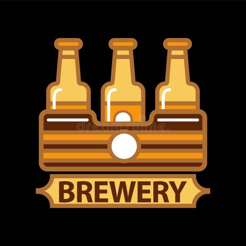 Het malplaatjeontwerp van het bier vectorembleem vector illustratie