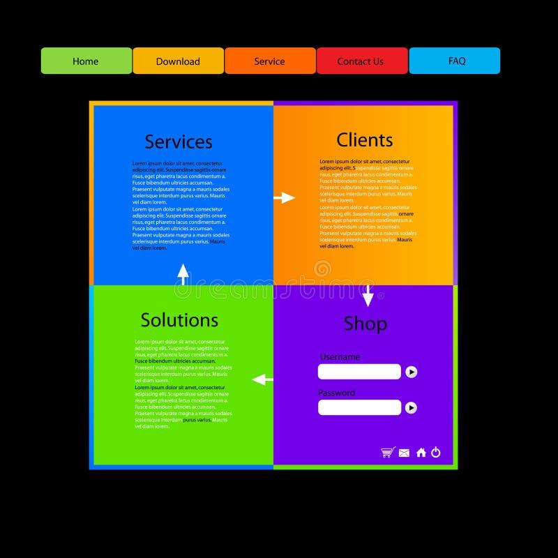 Het malplaatjeontwerp van de website vector illustratie