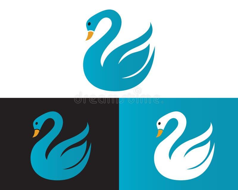 Het Malplaatjeontwerp van het zwaanembleem stock illustratie