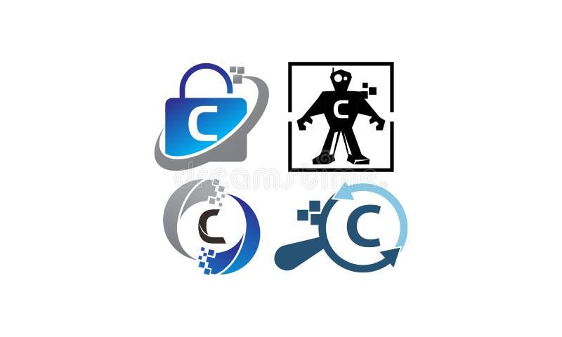 Het Malplaatjereeks van de technologietoepassing C vector illustratie