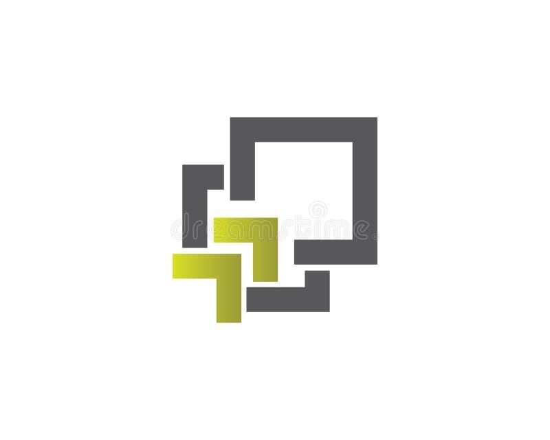 Het malplaatjevector van het bedrijfsfinanciën professionele embleem stock illustratie