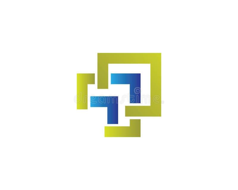 Het malplaatjevector van het bedrijfsfinanciën professionele embleem royalty-vrije illustratie