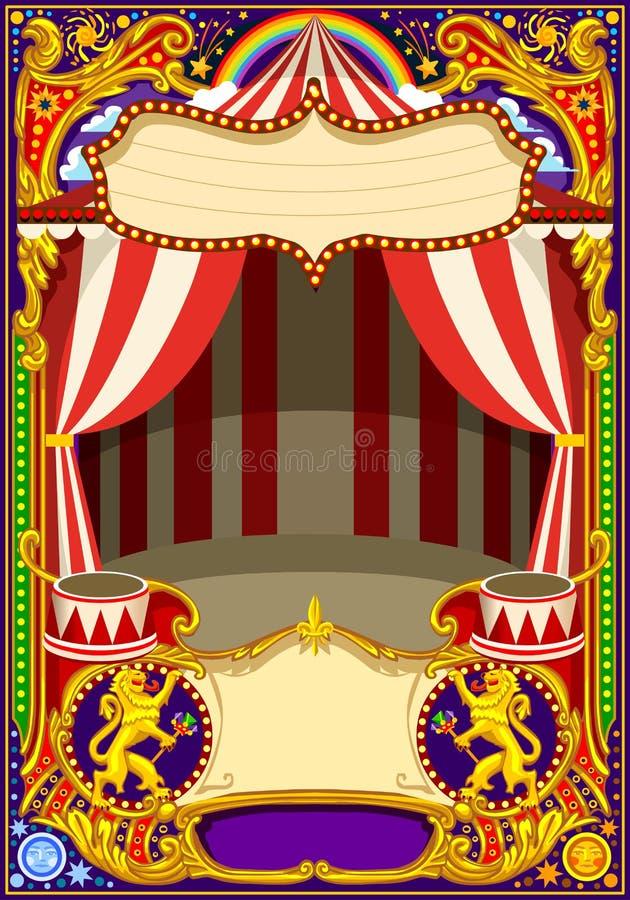 Het Malplaatjevector van de circuskaart royalty-vrije illustratie