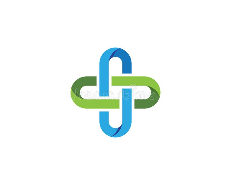 Het malplaatjevector van het gezondheids Medische Embleem stock illustratie