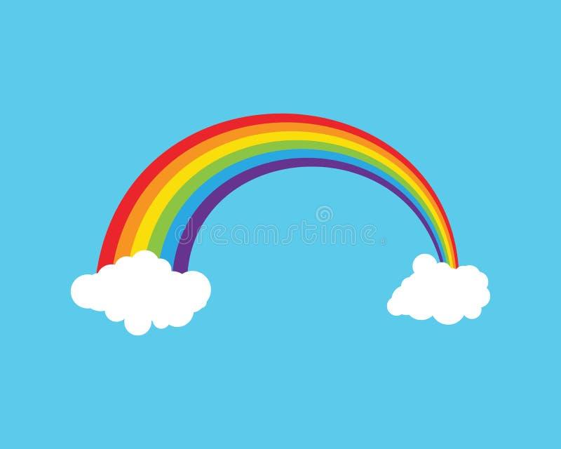 Het malplaatjevector van het regenboogpictogram stock fotografie