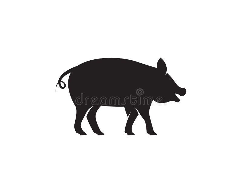 Het malplaatjevector van het varkensembleem vector illustratie