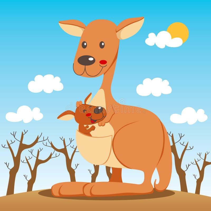 Het Mamma van de kangoeroe royalty-vrije illustratie
