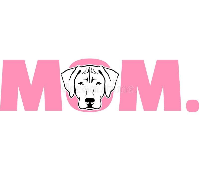 Het mamma van Rhodesianridgeback in roze royalty-vrije illustratie