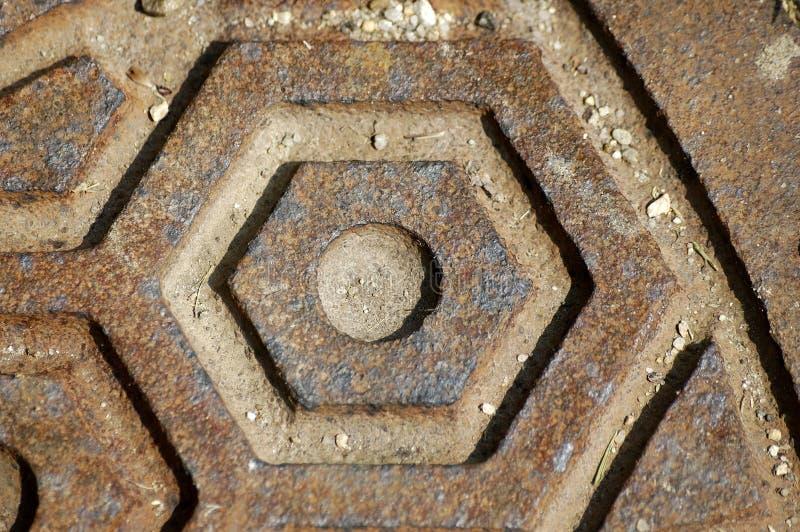 Het mangatdekking van de close-up