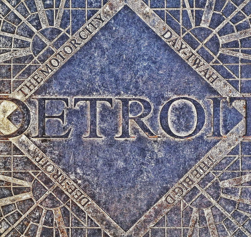 Het Mangatdekking van Detroit royalty-vrije stock afbeelding