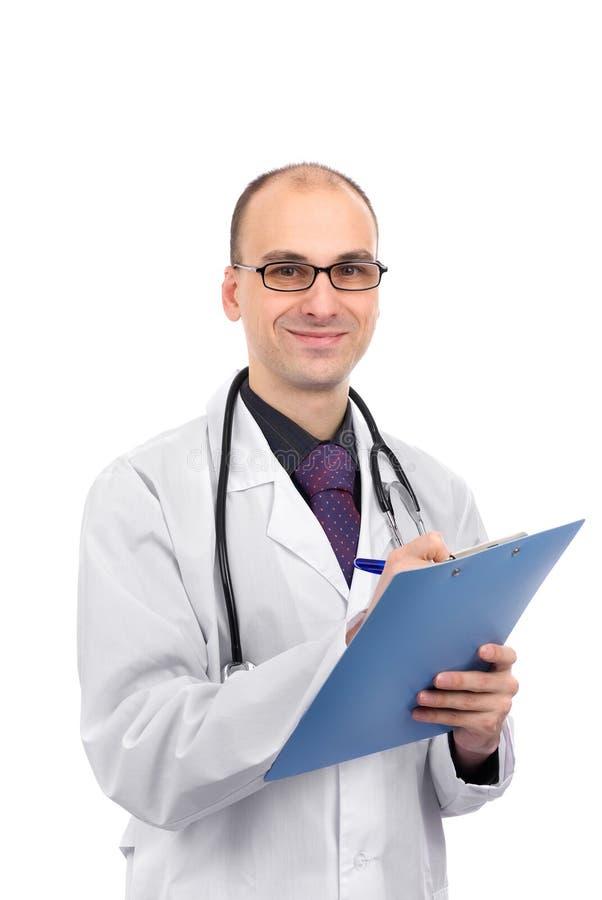 Het mannelijke arts glimlachen stock afbeeldingen