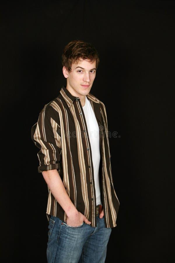 Het mannelijke model van de tiener stock foto