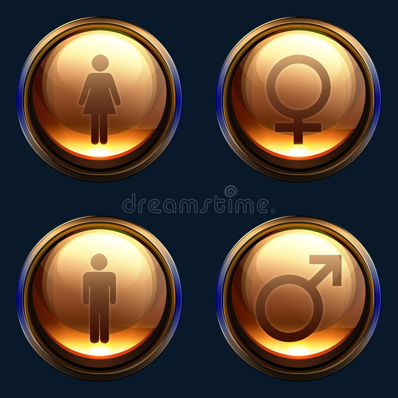 Het mannelijke vrouwelijke pak van het geslachtspictogram vector illustratie