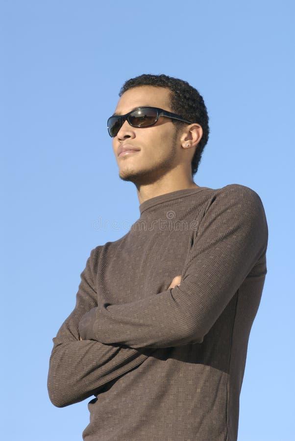 Het Mannetje van Afrikaans-Amerikaan van de Leeftijd van de universiteit royalty-vrije stock fotografie