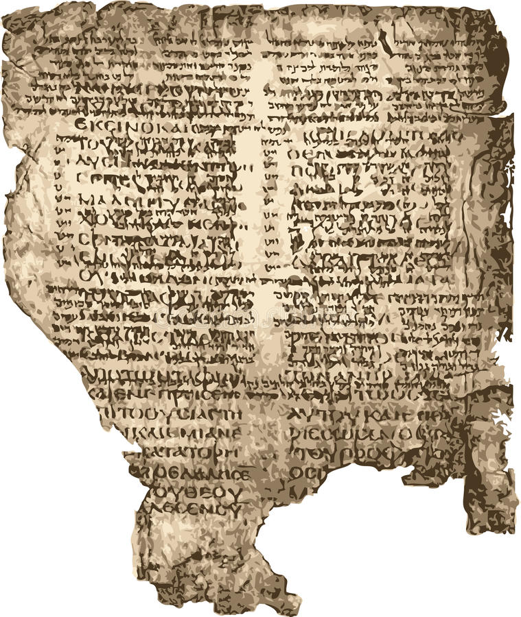 Het manuscript van de bijbel. vector illustratie