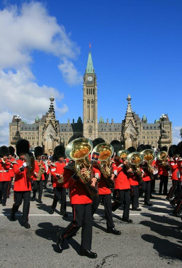 Het marcheren Band bij de Heuvel van het Parlement royalty-vrije stock afbeelding