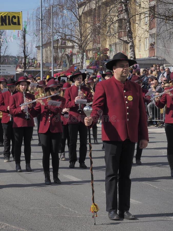 Het marcheren bandtamboer-majoor stock afbeelding