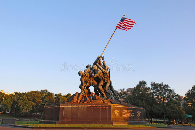 Het Marine Corps War-gedenkteken in Arlington, Virginia stock foto's