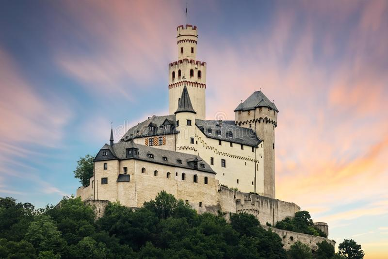 Het Marksburg-kasteel stock fotografie