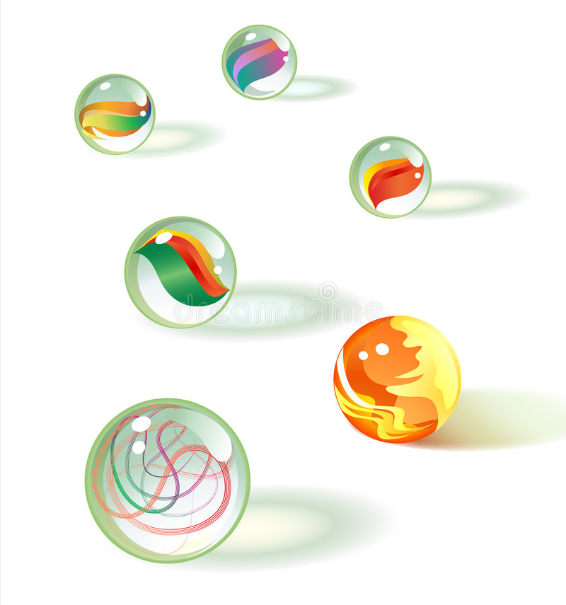 Het marmer van het glas plaatst 2 royalty-vrije illustratie