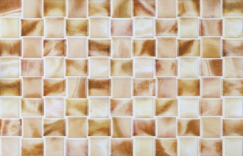Het marmeren moza ek van collage bruine tegels stock for Bruine tegels
