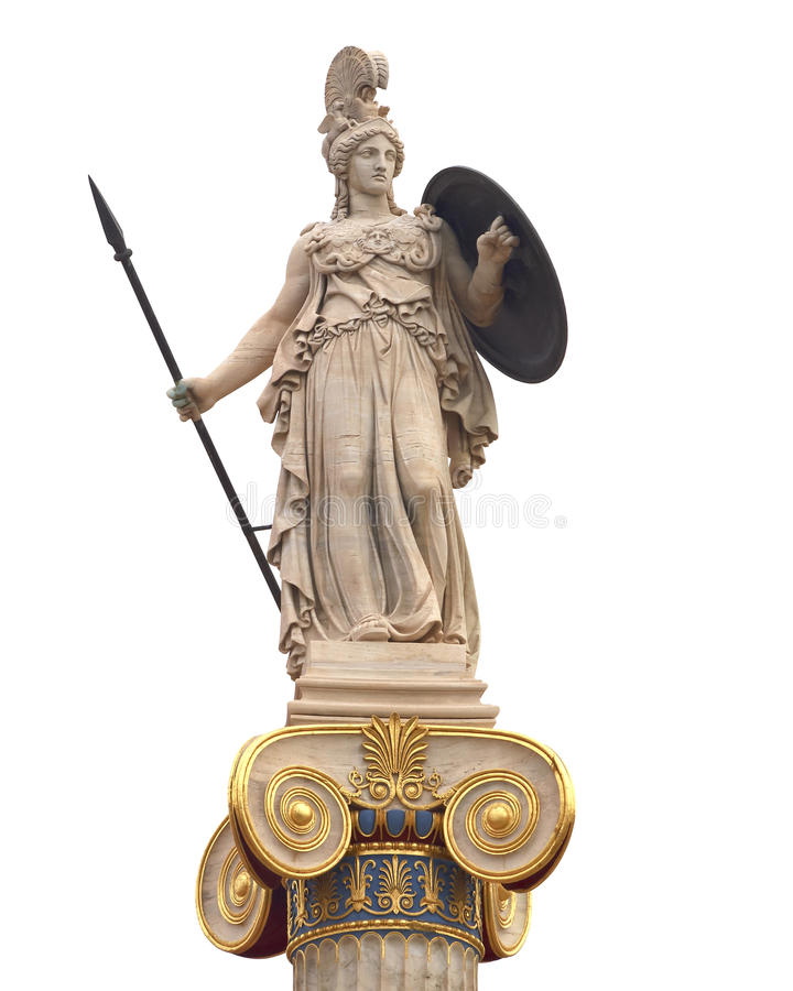 Het marmeren standbeeld van Athena royalty-vrije stock fotografie